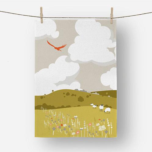 Rolling Hills 100% Cotton Tea Towel