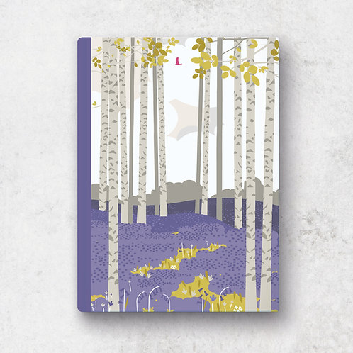Bluebell Haze A5 Notebook - Lined Pages