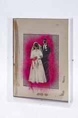 Na alegria ou na tristeza II,  interferência manual em fotografia, 16 x 25 x 5 cm, 2020.