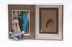 Na alegria ou na tristeza I,  interferência manual em fotografia, 36 x 25 x 5 cm, 2020.