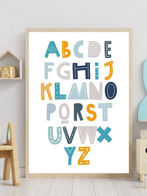 Stampa Alfabeto - Collezione Space