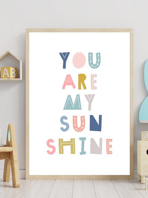 Stampa You Are My Sunshine - Collezione Lyrics