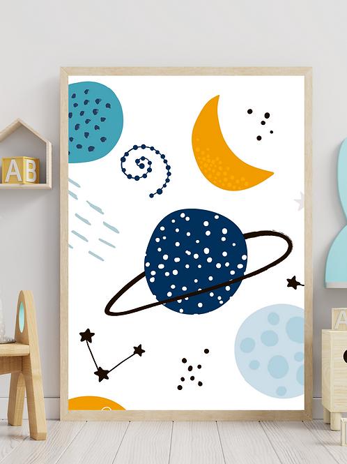 Stampa Planets - Collezione Space