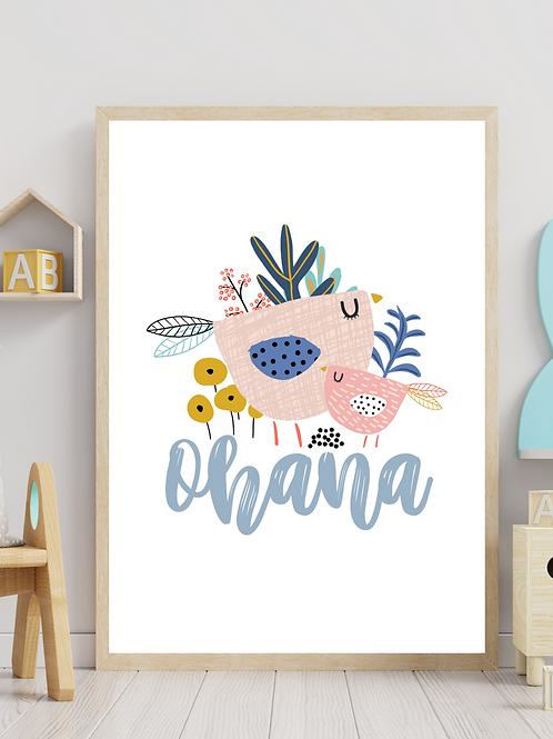 Stampa Ohana - Collezione Unicorn and friends
