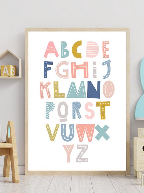 Stampa Alfabeto - Collezione Unicorn and friends