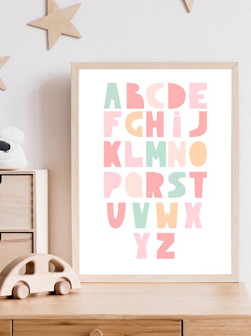 Stampa Alfabeto - Collezione Olov
