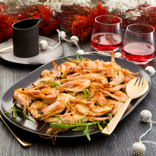 Festive Feasts – Sizzling Prawns with a Rosé Butter Sauce