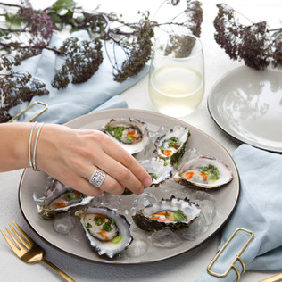 Here Comes the Weekend: Oysters with Sriracha & Coriander Dressing