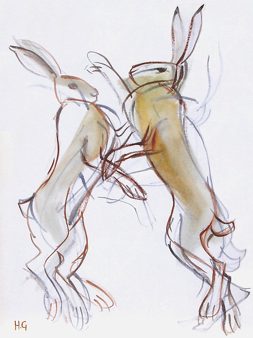 Boxing Hares I