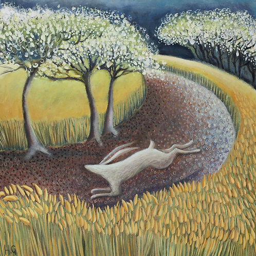 Hare and the Blackthorn Blossom
