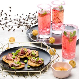 Welcome 2017: Mini Okonomiyaki and Pomegranate Punch