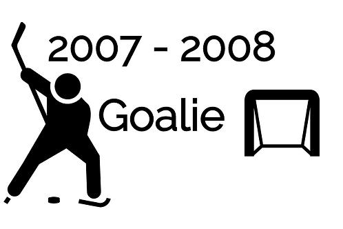 Goalie Deposit 2007-2008