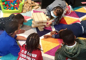 Jenga with building blocks!