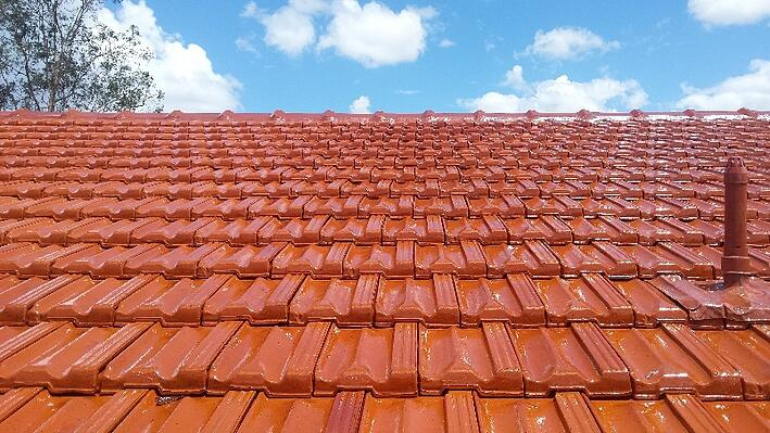 Complete tile roof restoration