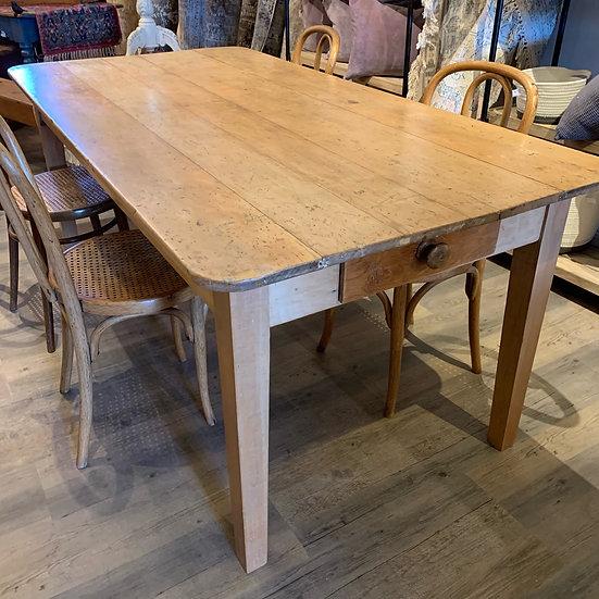 European pine table