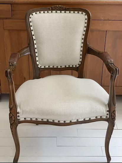 Custom Upholstered  Bergere Chair
