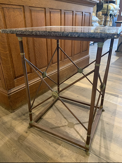 French Table  Base with Granite Top
