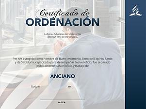 CERTIFICADO DE ORDENACION DE ANCIANO