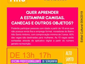 Projeto Grafias Cotidianas realiza oficina de serigrafia em Santo Antônio de Jesus