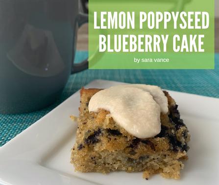 Lemon Poppyseed Blueberry Cake (gluten, grain and dairy free)