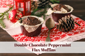 Double Chocolate Peppermint Muffins