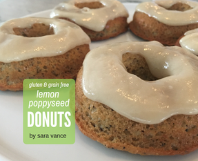 Lemon Poppyseed Donuts - Gluten & Grain free