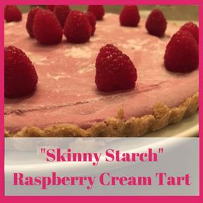 """Skinny"" Raspberry Cream Tart (vegan, gluten & grain free)"