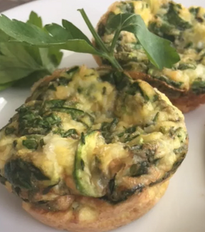 Chive and Zucchini Mini Omelettes