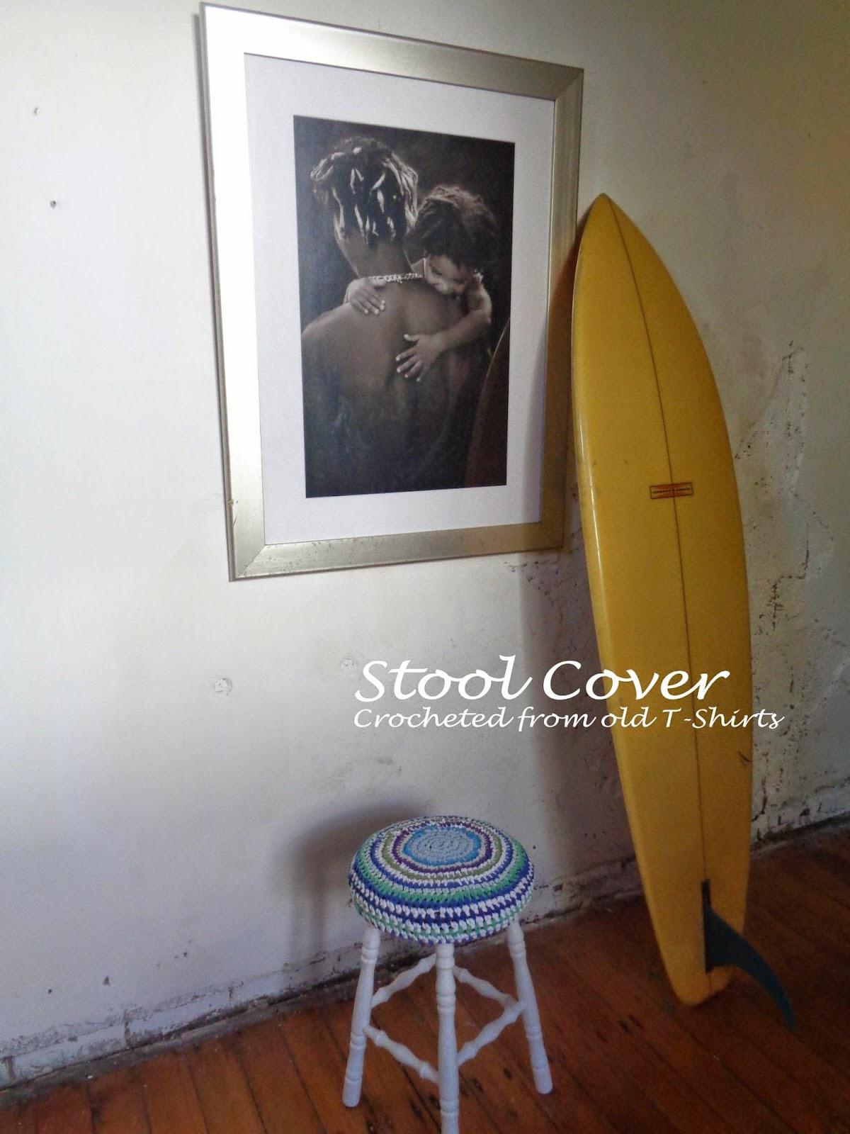 stool cover crochet