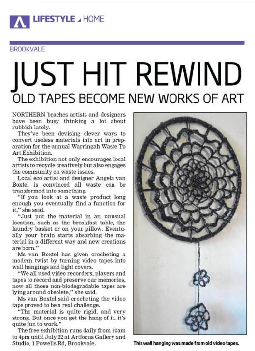 Wallhanging from Videotape Crochet