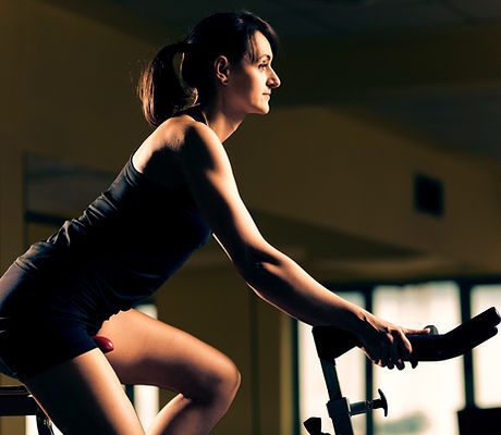 Girl in health club. Attractive Woman Sp