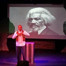 Sonny Kelly on stage_Frederick Douglass.