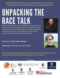 Unpacking the Race Talk Poster UNCG 11Fe