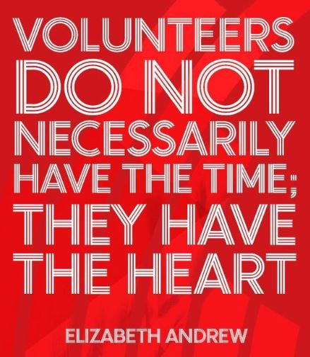 volunteer with heart