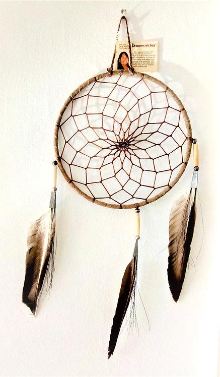 Navajo Deerskin 6 inch Dream Catcher