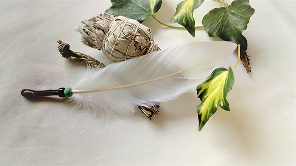 Smudging Set with smudging Feather, sage and sweetgrass