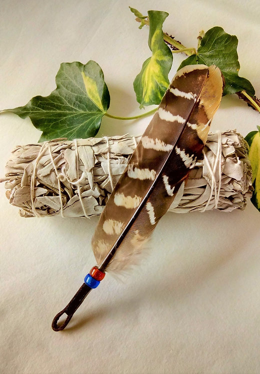 Smudging Set with Black Feather + Smudge Stick
