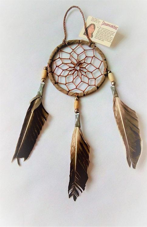 Navajo Deerskin 3 inch Dream Catcher