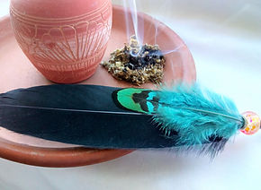 smudging-feather-and-burning-smudging-he