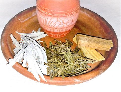 Smudging Herbs Multi-Pack. White Sage, Cedar & Palo Santo