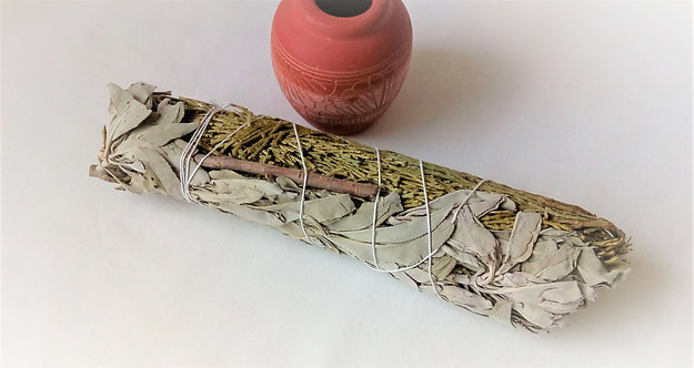 Californian White Sage and Cedar Smudge Stick 8""