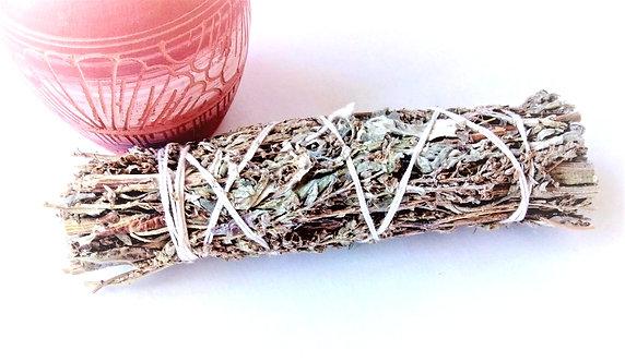 """Mugwort - Black Sage - 5"""" Smudge Stick"""