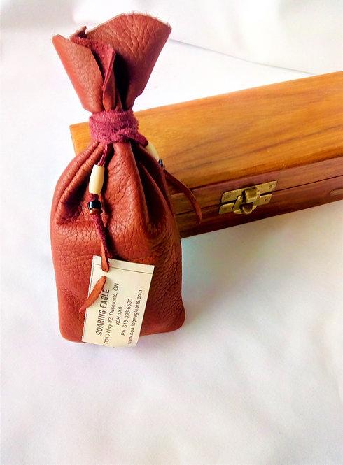 'Soaring Eagle' (Mohawk) 7cm Medicine Pouch brown