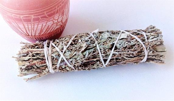"""Mugwort (Black Sage)  5"""" Smudge Stick"""