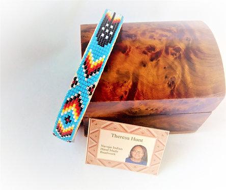 Blue Navajo Beaded Bracelet 1cm