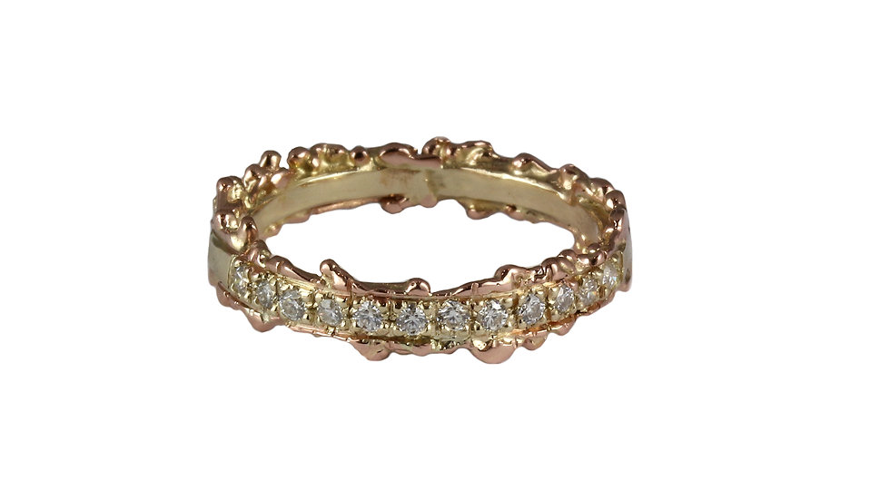 MANUELA slim half-eternity DIAMOND band