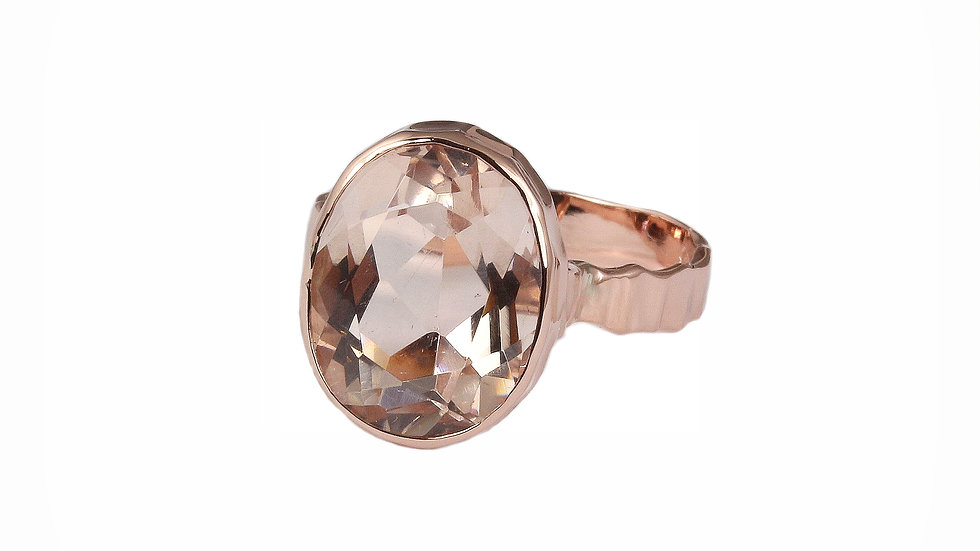 AURORA rose gold ring with Morganite