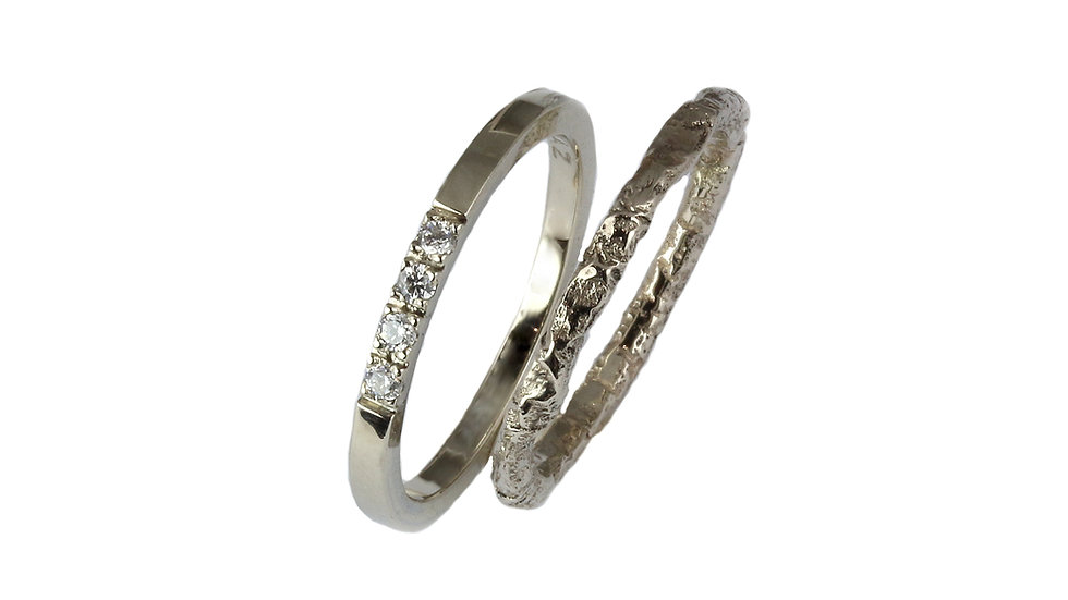 VALERIA gold ring set for her