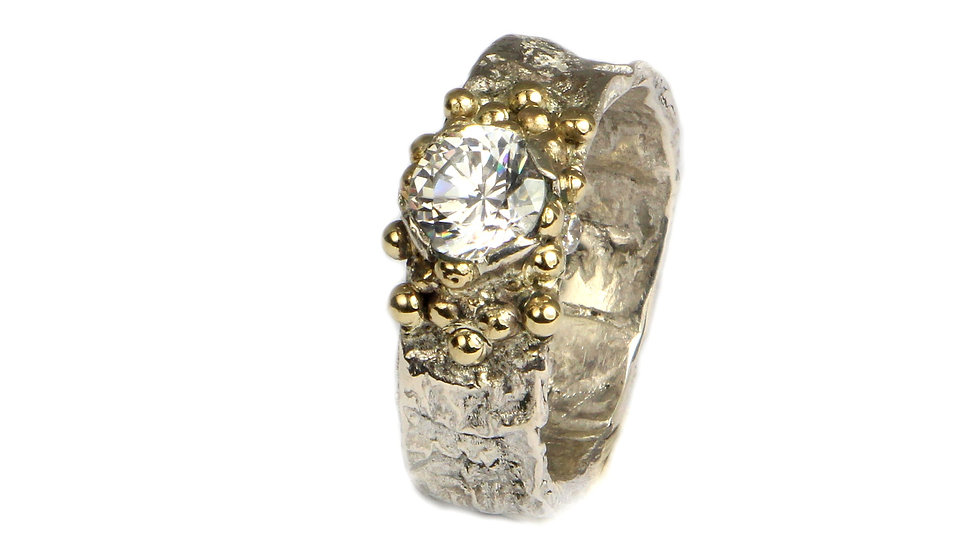 MARIA silver and gold ring