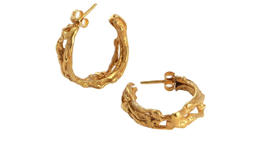 BUDOIR hoop gold plated earrings